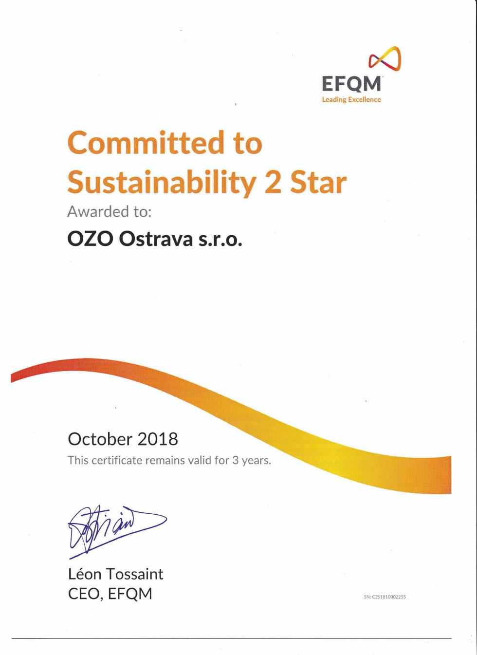 Committed to Sustainability 2 Star
